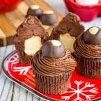 Peanut Butter Filled Buckeye Cupcakes recipe