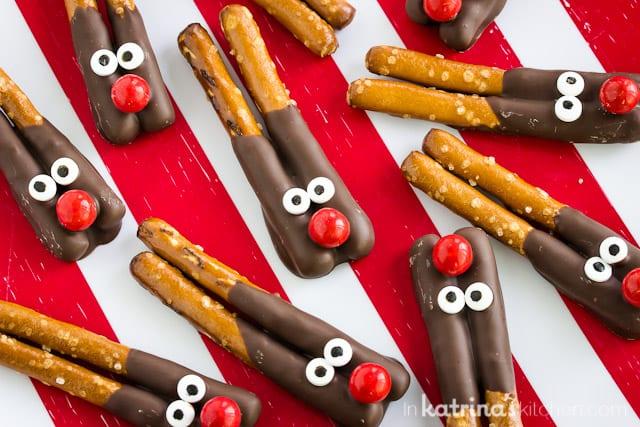 Easy Reindeer Pretzels
