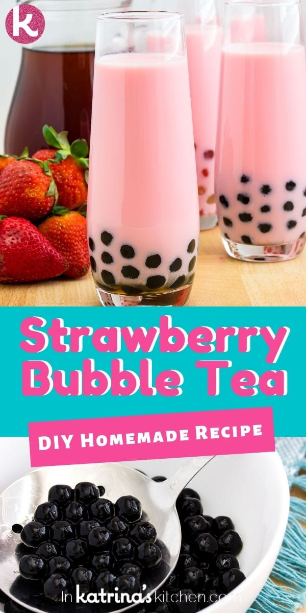 Make your own strawberry bubble tea at home with this simple recipe