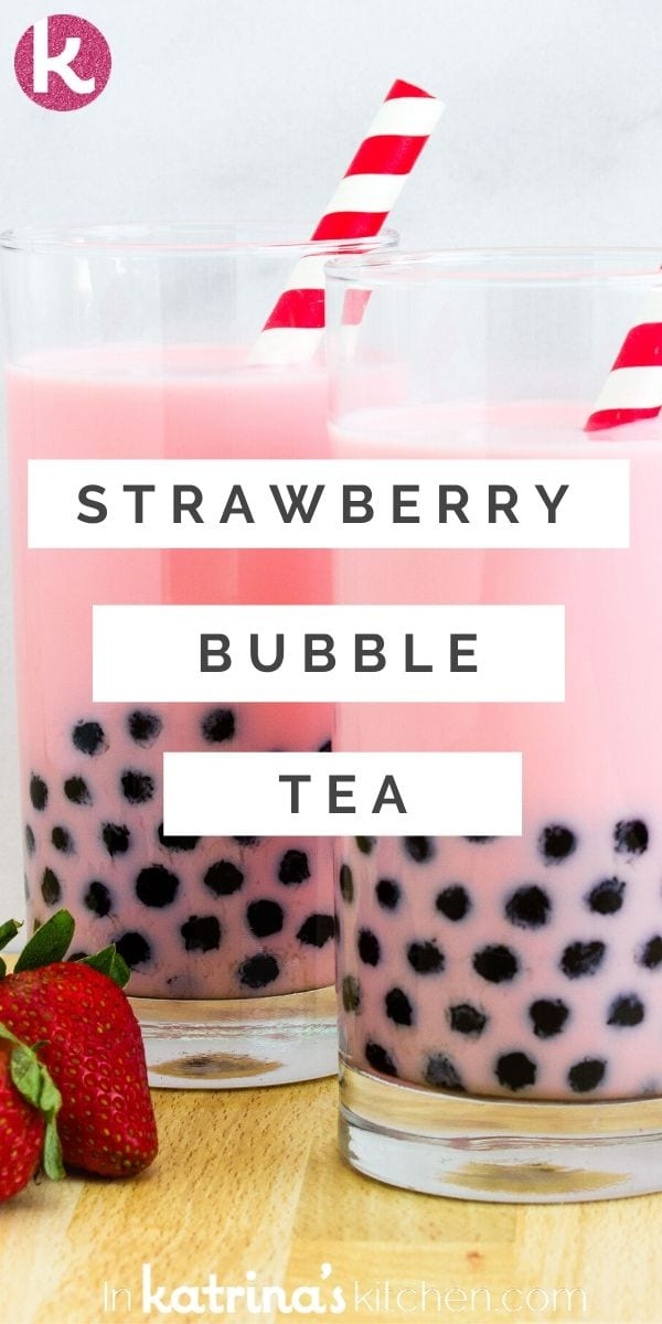 Learn how to make your own strawberry bubble tea at home with this simple recipe