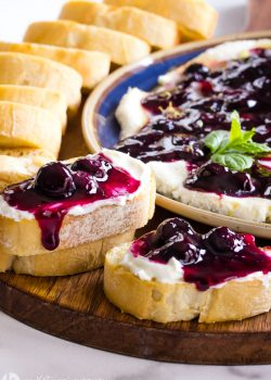 Whipped Blueberry Goat Cheese