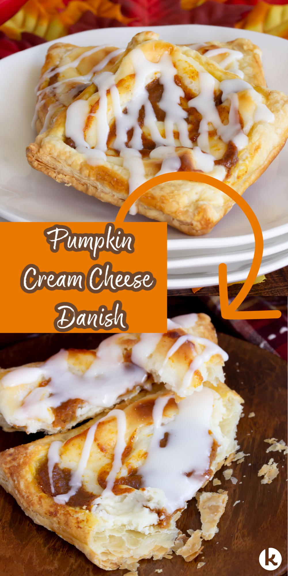 My Pumpkin Cream Cheese Danish recipe is finished in under 30 minutes! Enjoy a mini Danish for breakfast or brunch- perfect for parties too!