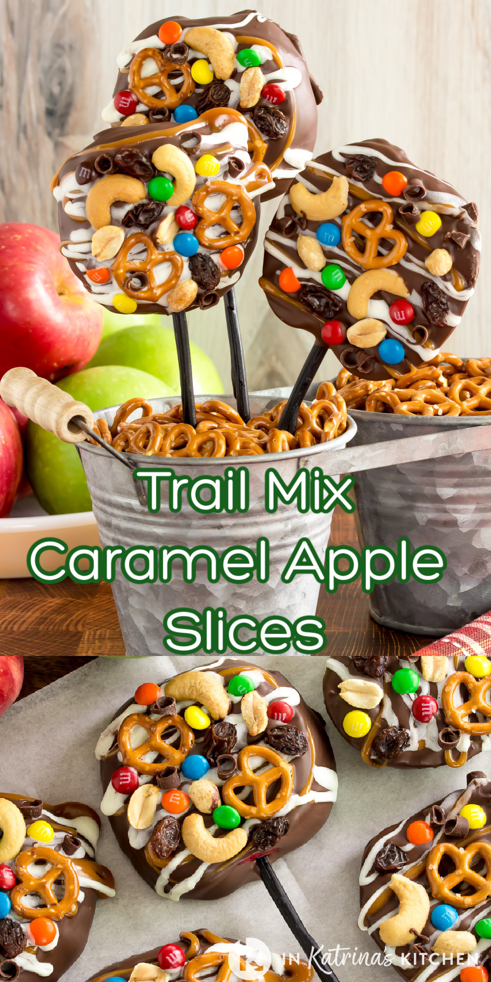 A must-make this Fall! These Trail Mix Caramel Apple Slices are a great way to serve up a traditional treat with a modern twist. PRINT and PIN the full recipe with helpful TIPS and TRICKS at In Katrina's Kitchen.