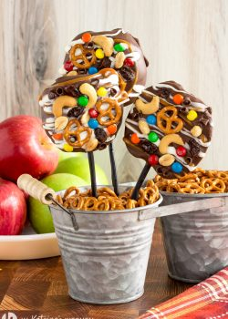 Trail Mix Caramel Apple Slices