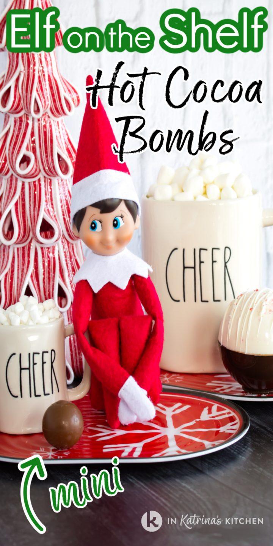 Christmas elf with mini chocolate truffle alongside regular sized treats