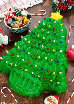 Vintage Christmas Tree Cake