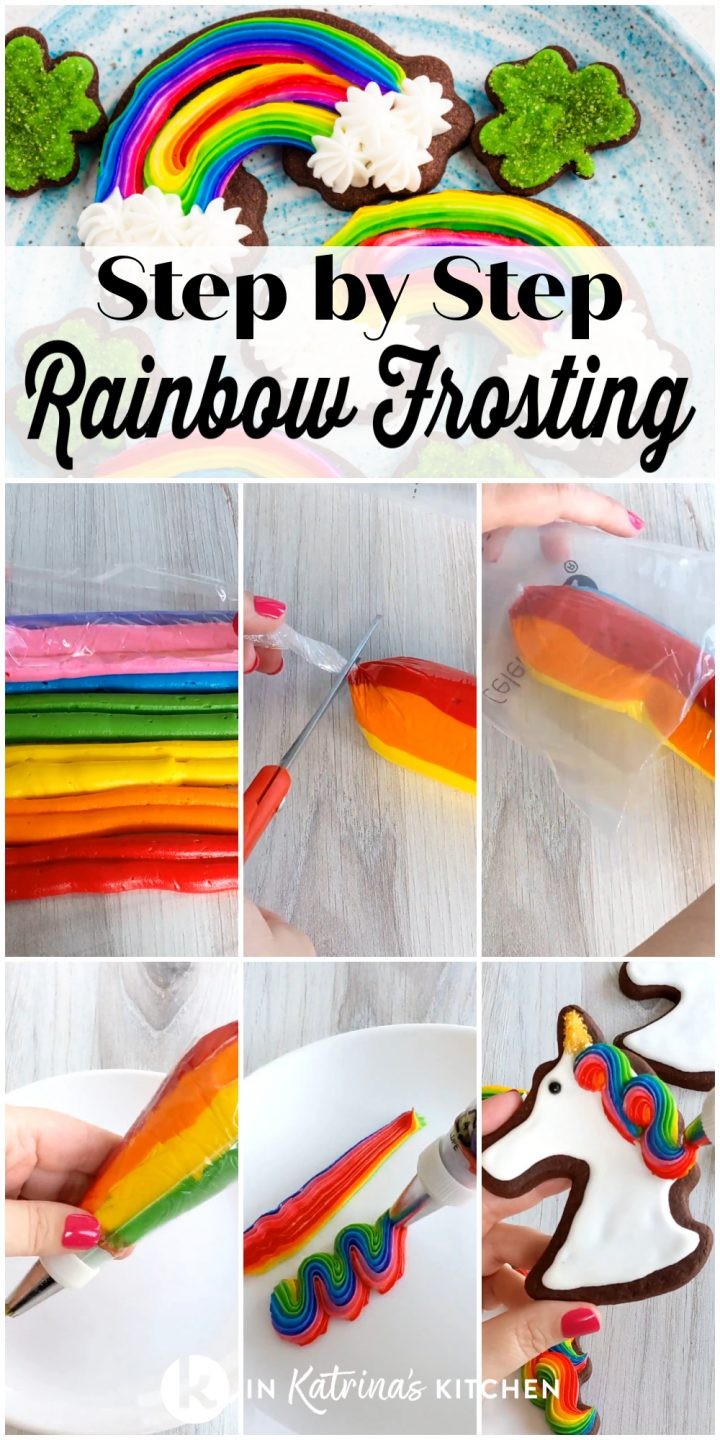 step by step rainbow frosting tutorial pictures