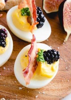 Blackberry Fig Deviled Eggs